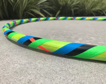 Beginner Hula Hoop // Neon Dance Hoop // Handmade Fitness Hoop