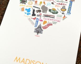 Madison, Wisconsin Print