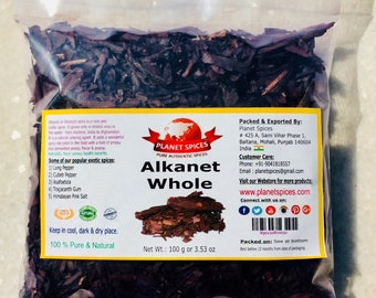 Alkanet Whole 100 g Pack | Free Shipping Worldwide
