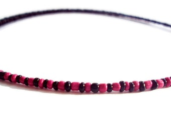 Ecofriendly Minimalist Necklace Black & Pink