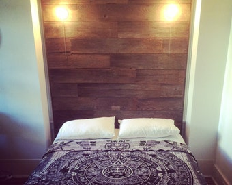 barnwood headboard etsy. Black Bedroom Furniture Sets. Home Design Ideas