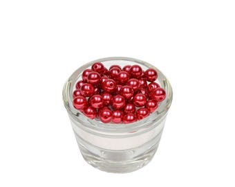 50 PC wood beads plastic Red 8 mm in diameter