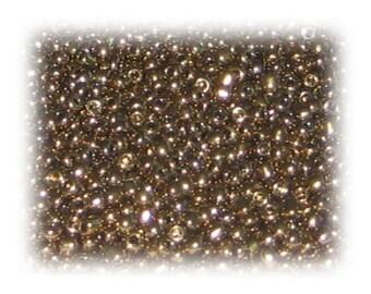11/0 Gold Metallic Glass Seed Beads, 1 oz. bag