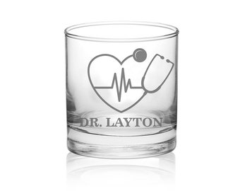Medical gifts, Nurse gifts, Paramedic, Medic, Whiskey glass, Off duty, Doctor gift, doctor's wife, RN glass, Girl, gifts for doctor, nurse