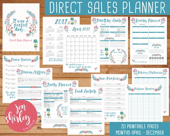 Direct Sales Planner Printable Planner 8.5 x 11