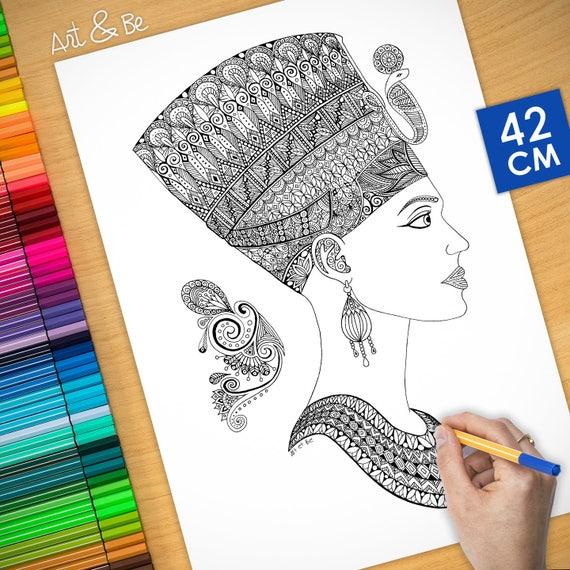 Coloring poster - NEFERTI...