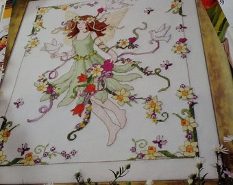 L - FAIRY WITH DOVES - Crosss Stitch Pattern Only