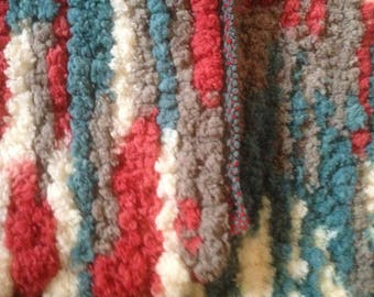 "Rug  Chenille  Polyester  28"" x 34""  Floor loom woven"