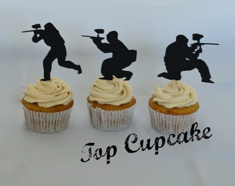 Paintball Cupcake Toppers -12