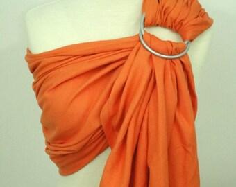 Woven ring sling - 100% organic cotton- Papaya orange