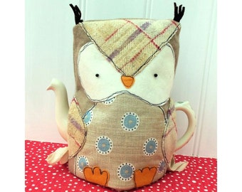 Owl Tea Cosy pdf sewing pattern instant download