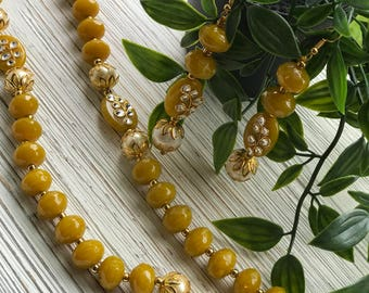 Indian jewelry; Indian jewelry set; Indian traditional jewelry; Traditional earrings; Glass bead jewelry; Faceted glass beads; Faceted beads