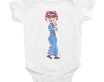Little Rosie the Riveter Infant Bodysuit
