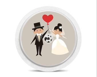 Sticker for FreeStyle Libre sensor Newly weds