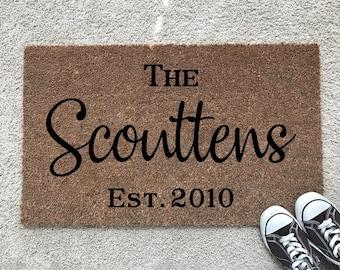 Custom Doormat // Personalized Door Mat // Last Name Doormat