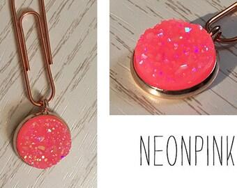 Stardust paperclip (neon pink) for your Midori / Fauxdori / Filofax / Planner