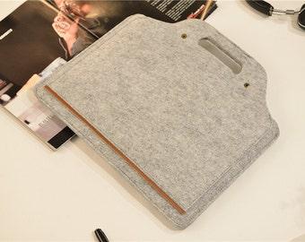"Hanger Felt Macbook Pro Sleeve 15 , Touch Bar 15"" Macbook pro , Macbook Pro 15 Retina Case ,  Laptop Case 15.6 , 15 Laptop Sleeve #202"