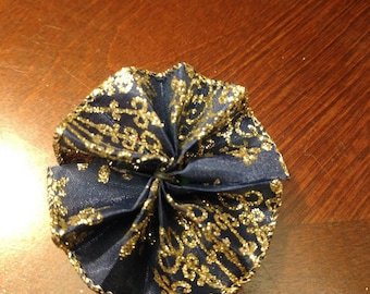 Blue and Gold collar bow