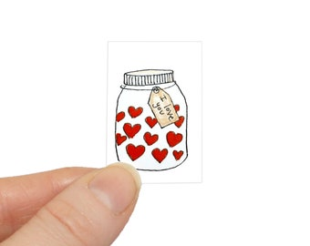 Father's Day card, I love you card for Dad, miniature birthday card, miniature card & tiny envelope, tiny card, Dad birthday card