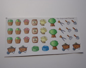 Think Spring! Gardening Stickers for your Erin Condren Life Planner / Scrapbooking / Crafting