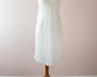 1960's Vanity Fair White Chiffon Nightgown and Coat