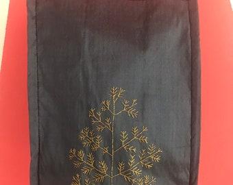 Embroidered silk bag