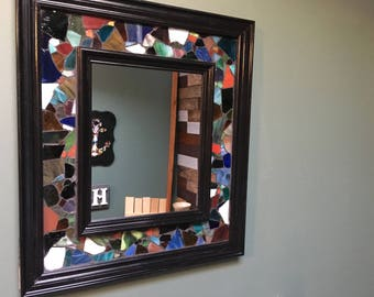 Sea Glass Decorative Accent Mirror - Available in Multiple Sizes