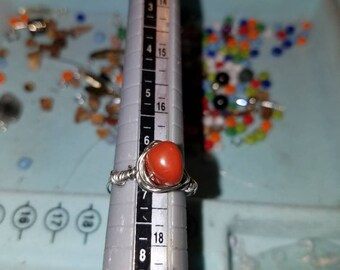 Gem red Jasper' size 6 1/2