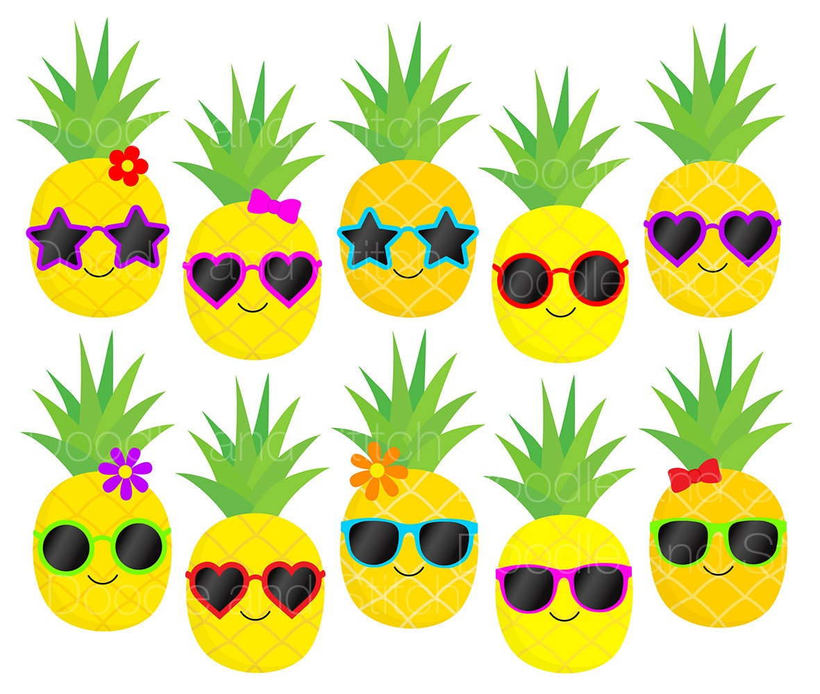 pineapple clip art pictures pineapples in sunglasses summer clipart rh etsystudio com summer clipart black and white summer clipart for kids