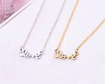 Dainty Love Necklace in Gold/Silver NB515