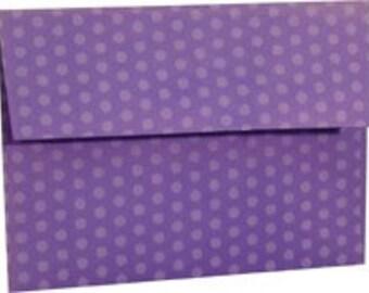 SALE 25 Purple Gum Drop Polka Dot A-7 5X7 Envelope 5-1/4 x 7-1/4 Envelope