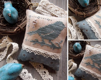 Little Bluebird - PDF Digital Cross Stitch Pattern - Fairytale Series