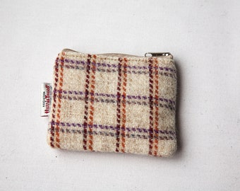 Harris Tweed Coin Purse, Tweed Zip Purse, Tweed Purse, Accessories Case