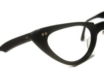 Vintage Winged AmericanOptical Cateye Eyeglasses Eyewear Frame 46-22