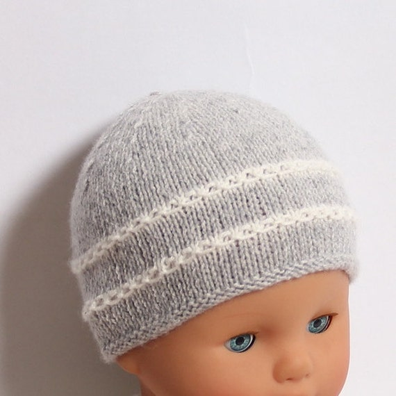 Baby Hat / Knitting Pattern Instructions in English / PDF Instant Download / 4 Sizes : Newborn / 3 / 6 and 12 months