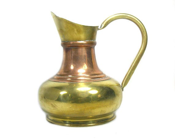Vintage Brass and Copper Jug