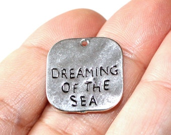 4 Dreaming of the Sea Sm Charms Antique Silver Tone - CH329