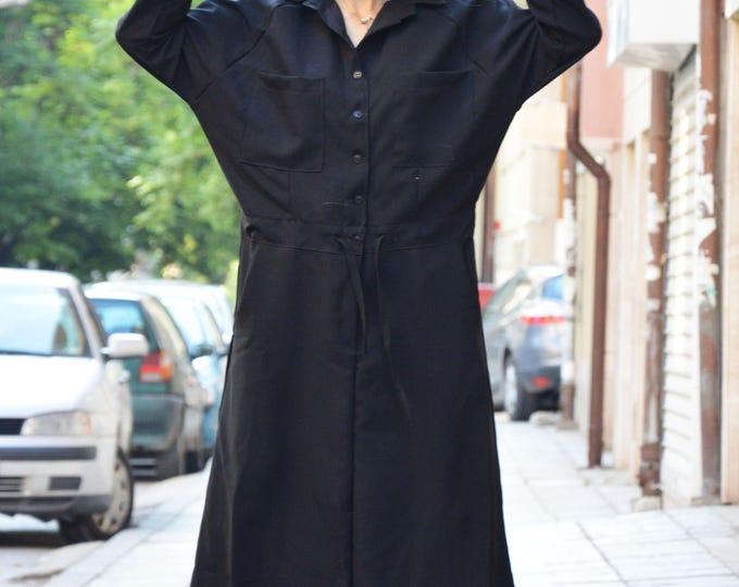 Extravagant Black Dress, Maxi Long Dress With 7/8 Sleeves, Party Dress, Fashion Black Kaftan by SSDfashion