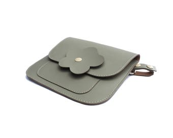 Grey hip clutch, Hands free bag, Grey funny pack, Hip bag, Grey belt bag, Gift for her, Grey bum bag, Belt clutch, Belt pouch