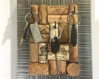 Wine Cork Jewelry Holder, Wine Cork Crafts, Wine Lover Gift, Zebra Jewelry Organizer, Jewelry Storage, Jewelry Hanger, Key Holder, Unique