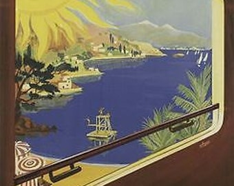 Vintage French Railways French Riviera Poster A3/A2/A1 Print