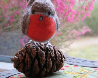 Tap felted Robin.