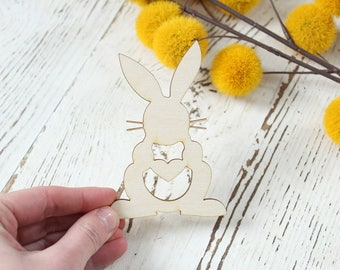 Easter Bunny Wood Cutout Easter Table Setting Easter Decor Easter Wood Crafts Easter Wreath Supplies