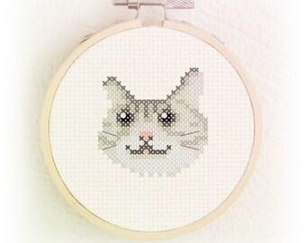 Cat cross stitch pattern PDF - Instant download