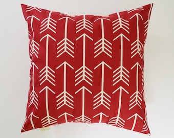 Red Pillow Cover Decorative Pillows Arrow Throw Pillows Timberwolf Red Pillow 16x16 18x18 20x20 22x22
