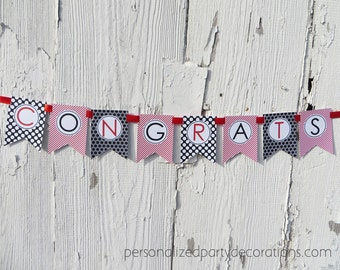 Graduation Banner, Congrats Banner, Graduation Party Decorations, Congrats Graduation Banner, You Choose The Colors