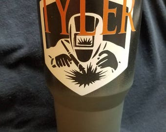 Welding Themed Tumbler - Customized with Name