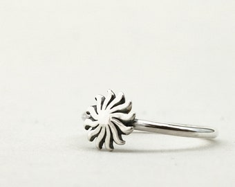 Sun ring, Sterling Silver, Celestial jewelry