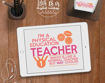 PE Teacher svg, Phys Ed Teacher SVG, Teacher svg, Back to School svg, Teacher Cut File, eps, dxf, png Cut Files for Silhouette for Cricut