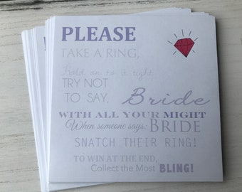 Ring Bling Bridal Shower Game